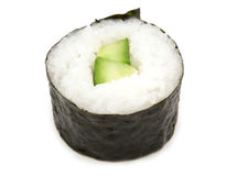 Cucumber maki roll Stock Photos