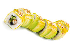 Cucumber Maki Sushi made of Crab Meat, Cheese Stock Photos