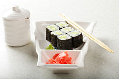 Cucumber maki sushi Royalty Free Stock Photo