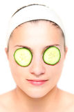 Cucumber mask Stock Images