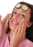 Cucumber mask Royalty Free Stock Image