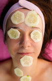 Cucumber mask Stock Photos