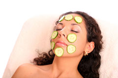 Cucumber mask Royalty Free Stock Photography
