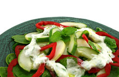 Cucumber And Mint Salad Royalty Free Stock Photo