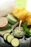 Cucumber mint spa treatment royalty free stock image