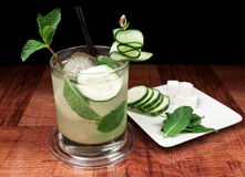 Cucumber mojito Royalty Free Stock Photography