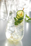 Cucumber mojito cocktail Stock Images