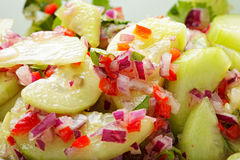 Cucumber and onions salad Stock Photography
