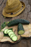 Cucumber organic garden Stock Photography