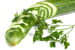 Cucumber and parsley Royalty Free Stock Photography