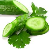 Cucumber with parsley Stock Photos