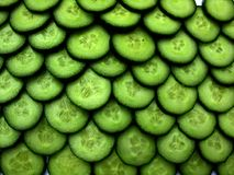 Cucumber pattern n2. Sliced cucumber, tiled Stock Images
