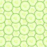 Cucumber pattern. Seamless background from slices of vegetable. Diet healthy organic food. Ingredient salad. Chopped the Royalty Free Stock Images