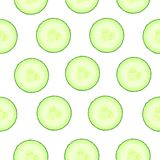Cucumber pattern. Seamless background from slices of vegetable. Diet healthy organic food. Ingredient salad. Chopped the Royalty Free Stock Photo