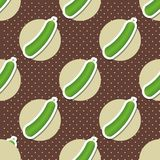 Cucumber pattern. Seamless texture with ripe green cucumbers Royalty Free Stock Photo