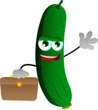 Cucumber or pickle as businessman Stock Photos