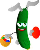 Cucumber or pickle as Easter bunny Royalty Free Stock Images