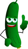 Cucumber or pickle with attitude Royalty Free Stock Photography