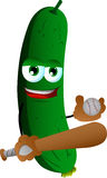 Cucumber or pickle Baseball player Stock Photos
