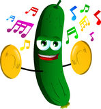 Cucumber or pickle with cymbals Stock Photos