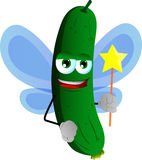 Cucumber or pickle fairy Royalty Free Stock Image