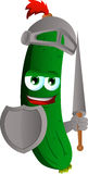 Cucumber or pickle knight Stock Photo