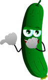 Cucumber or pickle laughing and pointing Royalty Free Stock Image