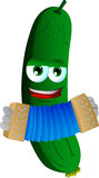 Cucumber or pickle playing accordion Royalty Free Stock Photography