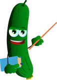 Cucumber or pickle professor Stock Images