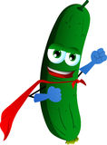 Cucumber or pickle superhero Stock Photo