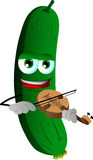 Cucumber or pickle with violin Royalty Free Stock Photos