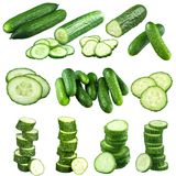 Cucumber Portions Stock Photography