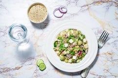 Cucumber quinoa Feta salad royalty free stock images