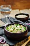 Cucumber quinoa Feta salad stock image