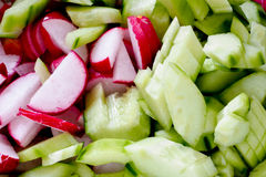 Cucumber and radish Stock Photo