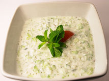 Cucumber raita 2 Stock Photos