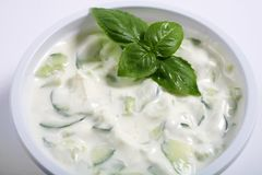 Cucumber raita Royalty Free Stock Images