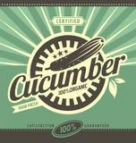 Cucumber retro ad concept Stock Photography