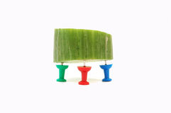 Cucumber and rgb  pins Royalty Free Stock Photos