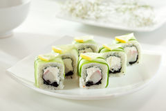 Cucumber Roll Royalty Free Stock Images