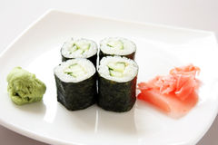 Cucumber rolls Royalty Free Stock Image
