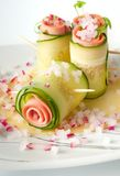 Cucumber rolls with pate Royalty Free Stock Photo