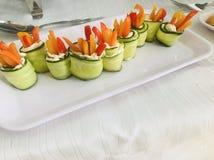 Cucumber rolls stock photos