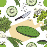 Cucumber salad background Royalty Free Stock Image