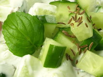 Cucumber salad,closeup Royalty Free Stock Photo