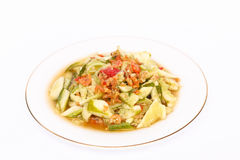 Cucumber salad (Som Tam). Spicy cucumber and dried shrimp salad,local food of Thai royalty free stock photography
