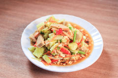 Cucumber salad. Thai Food ,Cucumber salad with cucumber is an important component Royalty Free Stock Image