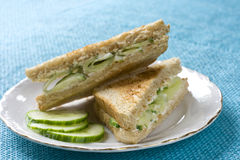 Cucumber sandwich Royalty Free Stock Images