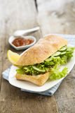 Cucumber sandwich Stock Images