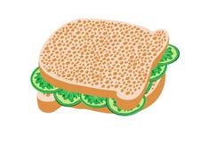 Cucumber sandwich. Vector illustration of a sandwich Stock Photos